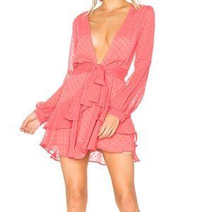 For Love and Lemons Tarta Ruffle Mini Dress
